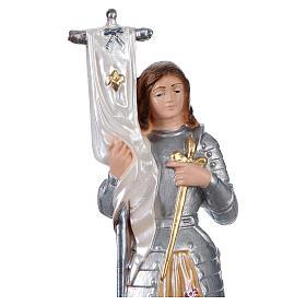 Sainte Jeanne d'Arc statue plâtre nacré 25 cm s2