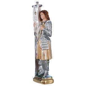 Sainte Jeanne d'Arc statue plâtre nacré 25 cm s3