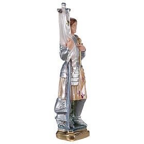 Sainte Jeanne d'Arc statue plâtre nacré 25 cm s4