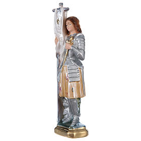 Saint Joan of Arc Statue, 25 cm in plaster with mother of pearl effect s3