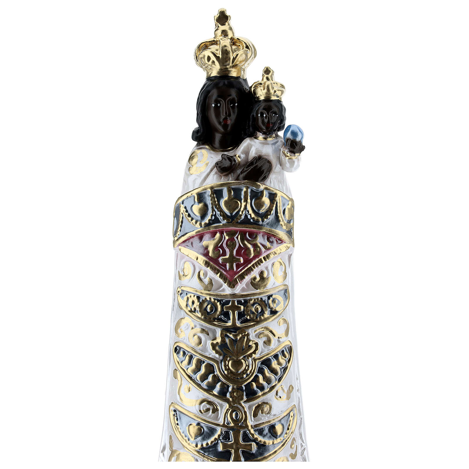 Our Lady of Loreto, 30 cm in plaster with mother of pearl effect 4