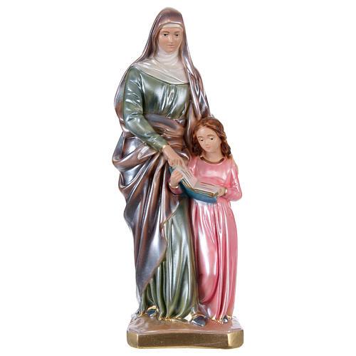 Sant'Anna 30 cm in gesso effetto madreperla 1