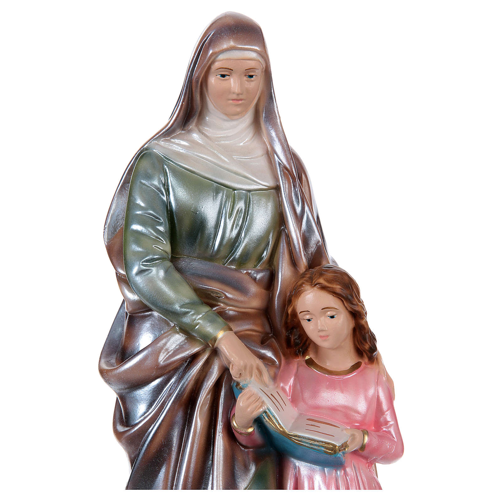 St. Anne Plaster Statue, 30 cm with mother of pearl effect 4