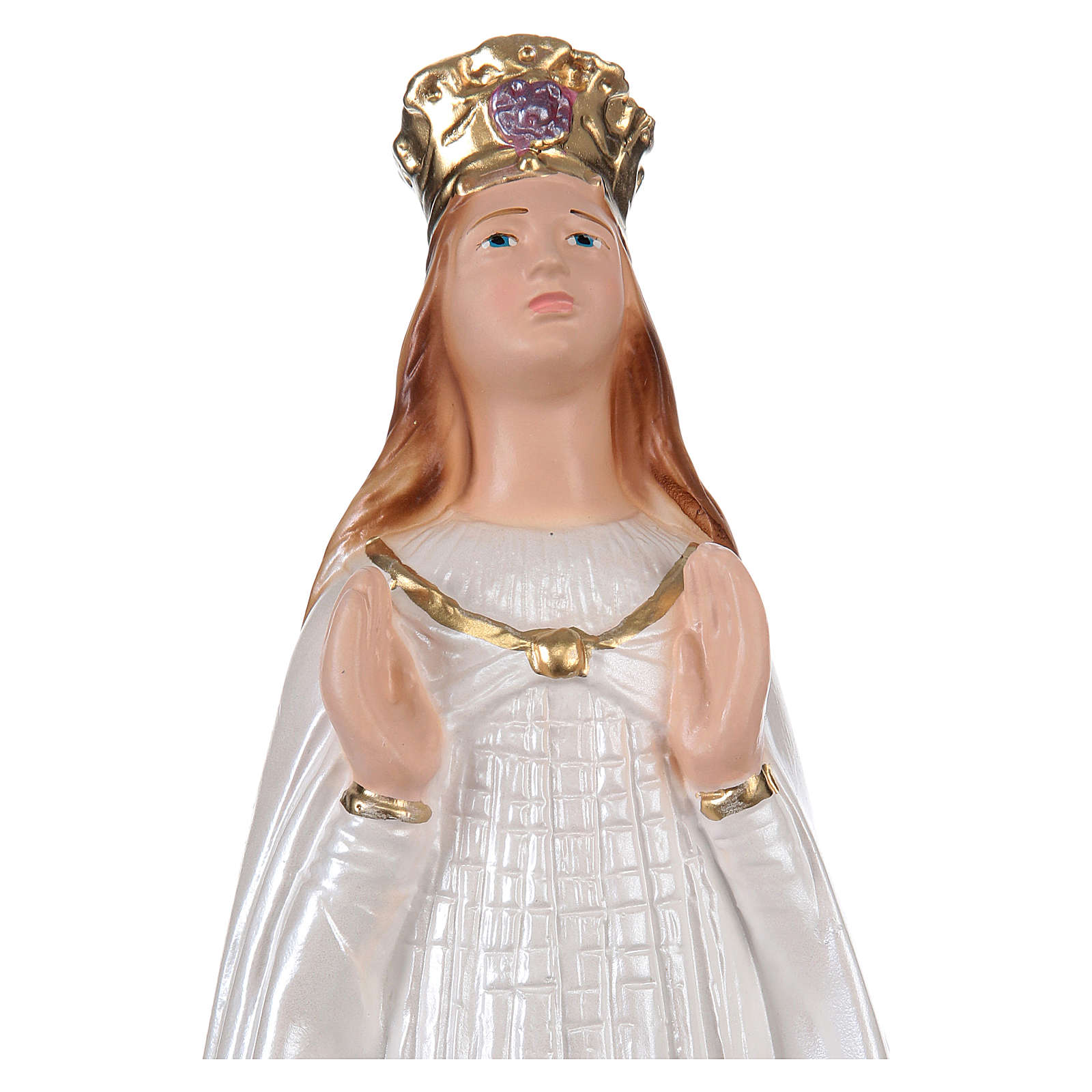 Our Lady of Knock statue in pearlized plaster, 30 cm 4