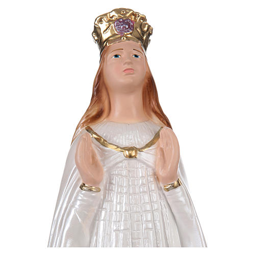 Our Lady of Knock statue in pearlized plaster, 30 cm 2