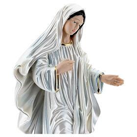 Statua gesso madreperlato Madonna di Medjugorje 35 cm s2