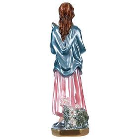 Statua gesso madreperlato Santa Maria Goretti 30 cm s5