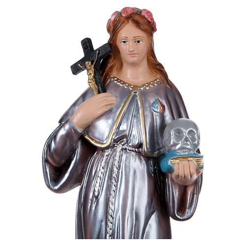 Santa Rosalía 30 cm yeso nacarado 2