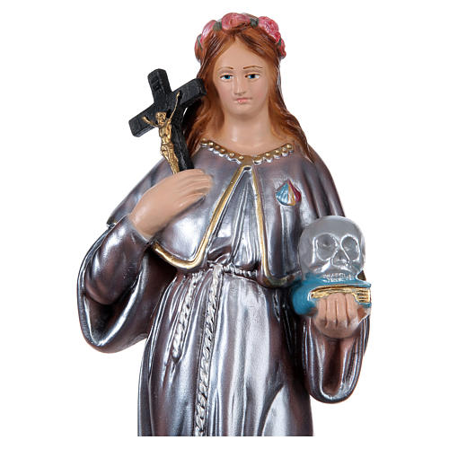Saint Rosalia Plaster Statue, 30 cm in mother of pearl 2