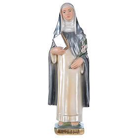 Estatua yeso nacarado Santa Caterina de Siena 30 cm s1