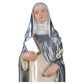 Estatua yeso nacarado Santa Caterina de Siena 30 cm s2