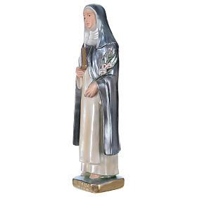 Statua gesso madreperlato Santa Caterina da Siena 30 cm s3