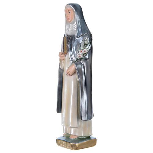 Statua gesso madreperlato Santa Caterina da Siena 30 cm 3