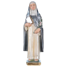 Saint Catherine of Seina Statue, 30 cm in plaster with mother of pearl s1