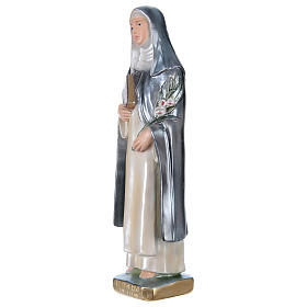 Saint Catherine of Seina Statue, 30 cm in plaster with mother of pearl s3
