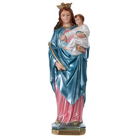 Our Lady Help of Christians 30 cm pearlized plaster statue s1