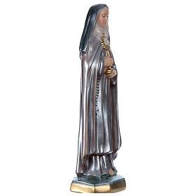 Estatua Santa Clara yeso nacarado 30 cm s4