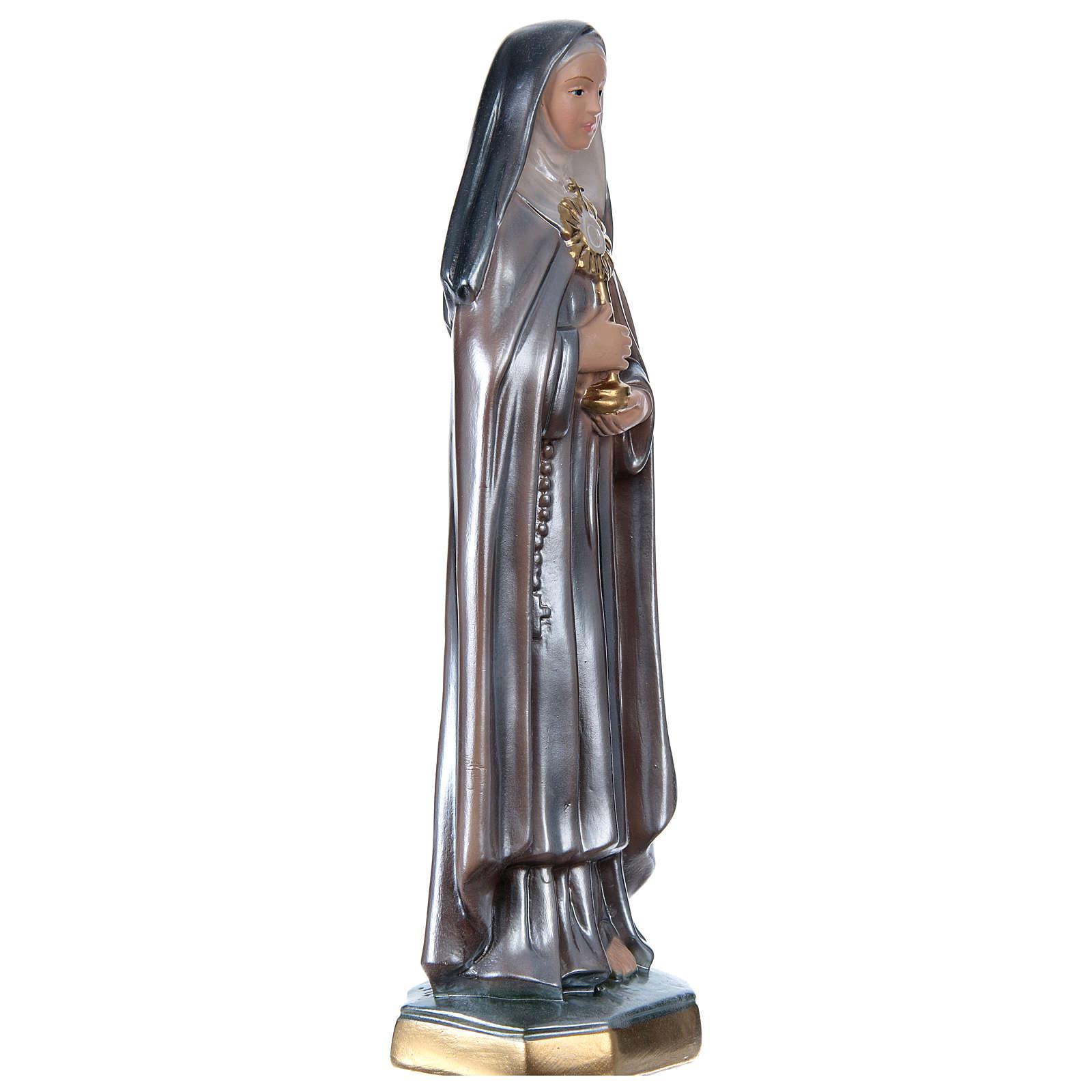 Figurka Święta Klara gips efekt masy perłowej 30 cm 4