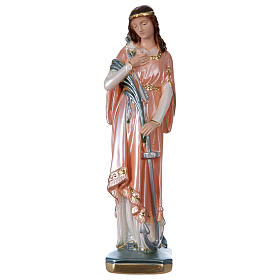 St Philomena 30 cm in mother-of-pearl plaster s1