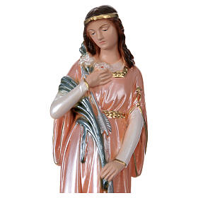 St Philomena 30 cm in mother-of-pearl plaster s2