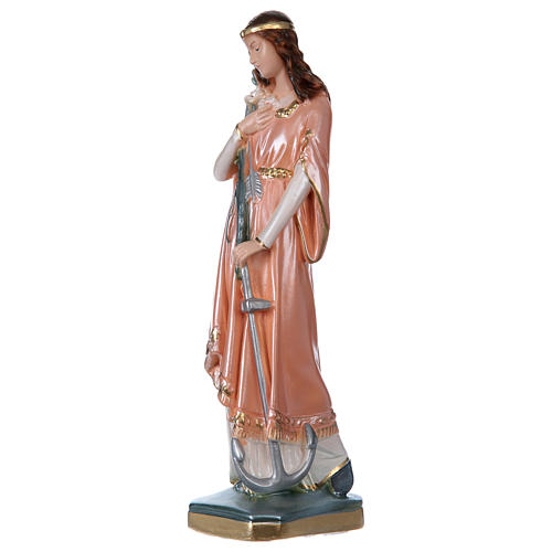 St Philomena 30 cm in mother-of-pearl plaster 3