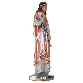 Estatua Santa Filomena yeso nacarado 30 cm s4