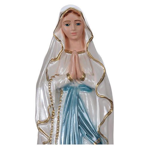 Virgen de Lourdes 30 cm yeso nacarado