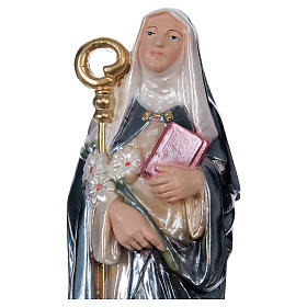 St Brigid 30 cm in mother-of-pearl plaster s2