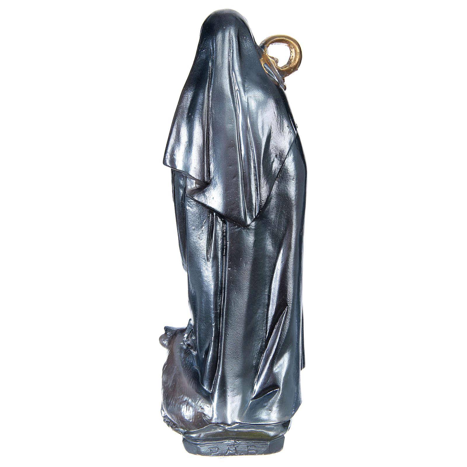 Santa Brigitta 30 cm gesso madreperlato 4
