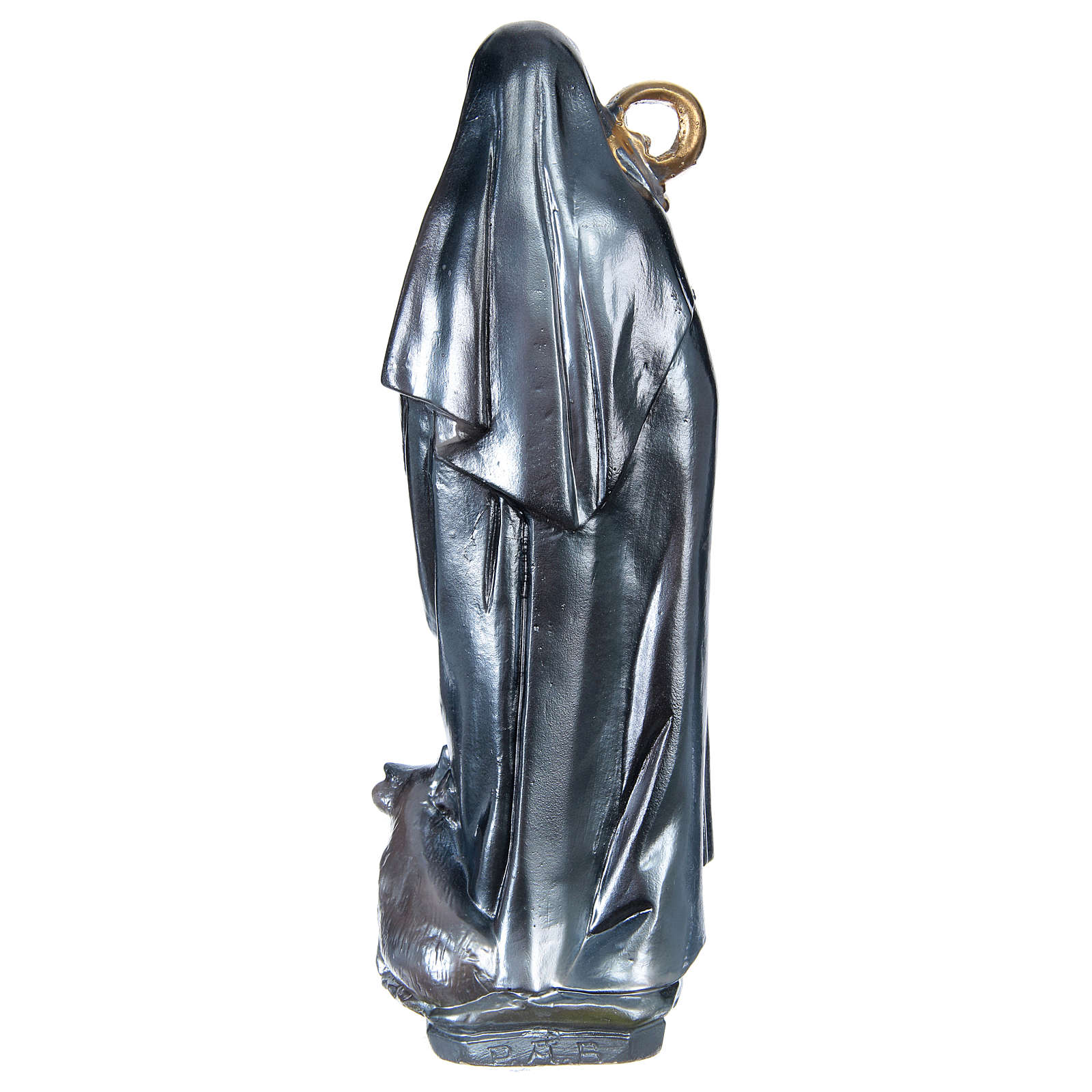 Saint Brigid 30 cm in plaster with mother of pearl 4