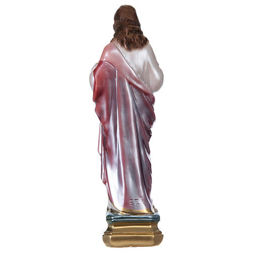 Sacred Heart of Jesus, 30 cm in plaster with mother of pearl 5
