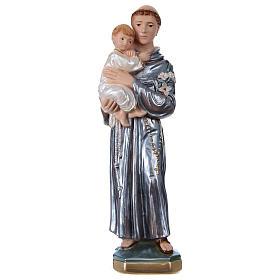 Saint Antoine 30 cm plâtre nacré s1