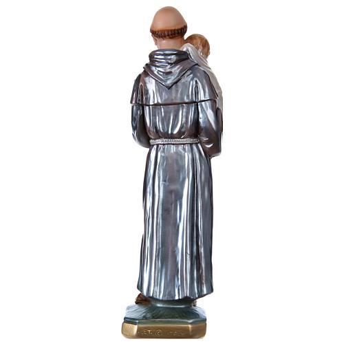 Santo António 30 cm gesso efeito madrepérola 5