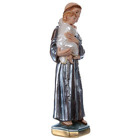 Saint Anthony with the Child Statue, 30 cm in plaster with mother of pearl s4