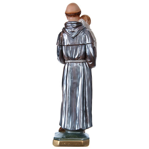 Saint Anthony with the Child Statue, 30 cm in plaster with mother of pearl 5