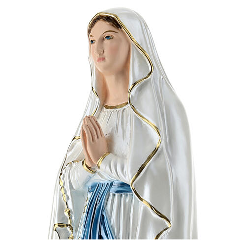 Virgen de Lourdes 50 cm yeso nacarado