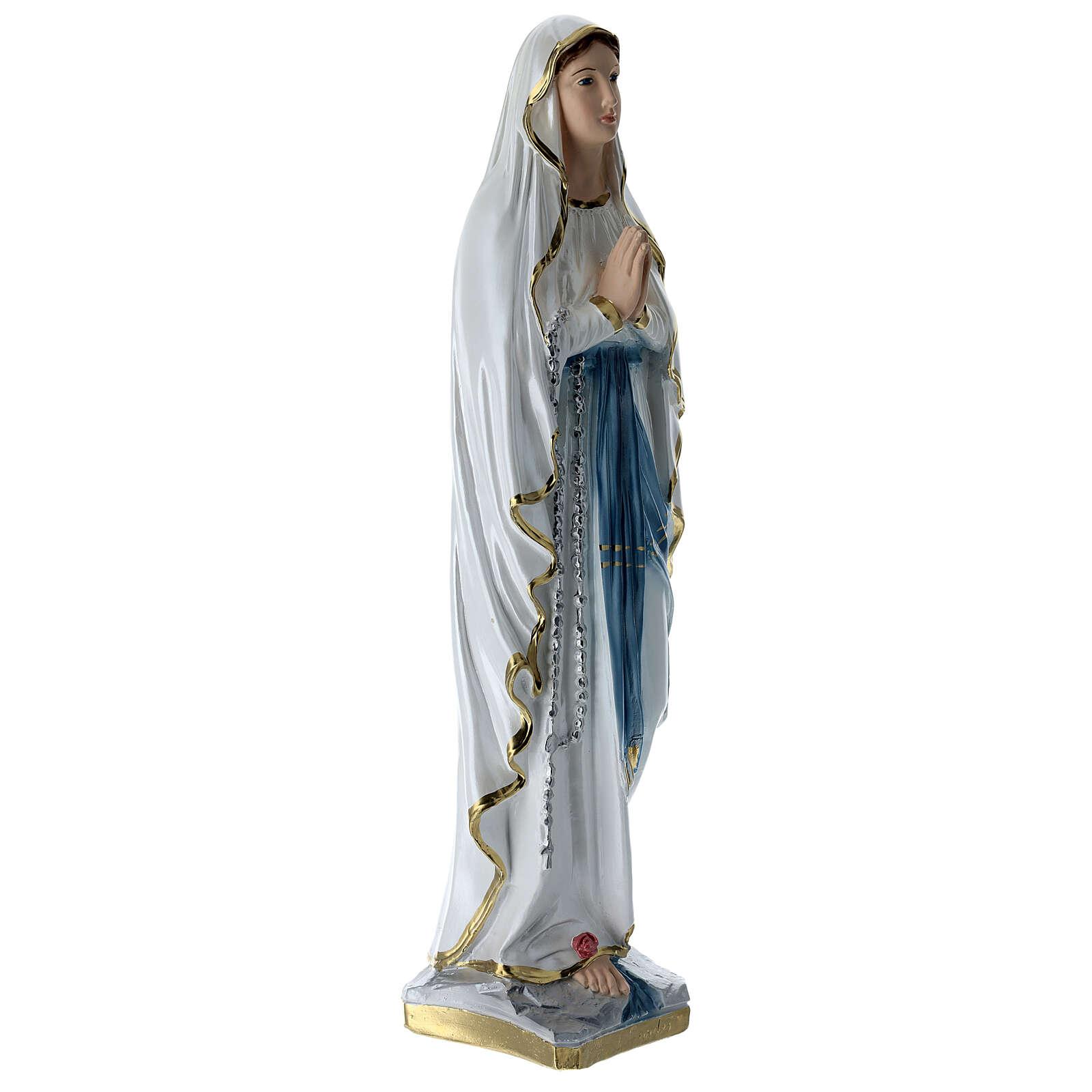 Notre-Dame de Lourdes 50 cm plâtre nacré 4