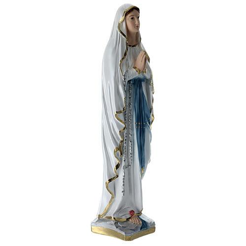 Notre-Dame de Lourdes 50 cm plâtre nacré 3