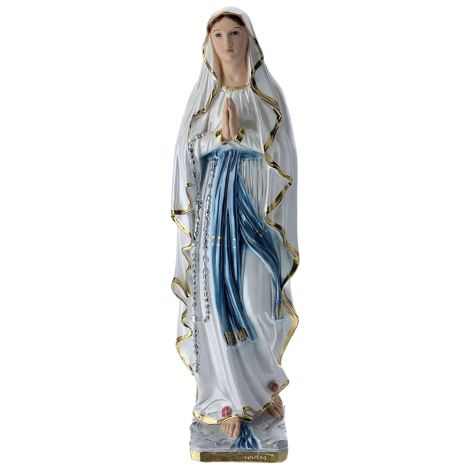Madonna di Lourdes 50 cm gesso madreperlato 4