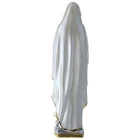 Madonna di Lourdes 50 cm gesso madreperlato s4