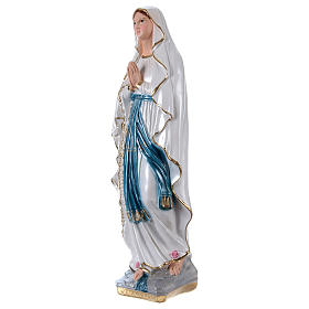 Madonna of Lourdes, 50 cm in plaster with mother of pearl s3