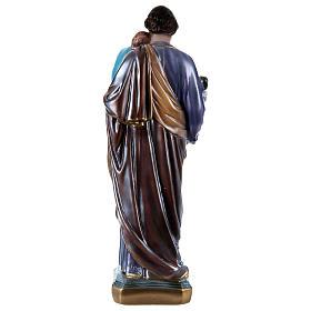 Heiliger Josef mit Kind 50cm perlmuttartigen Gips s4