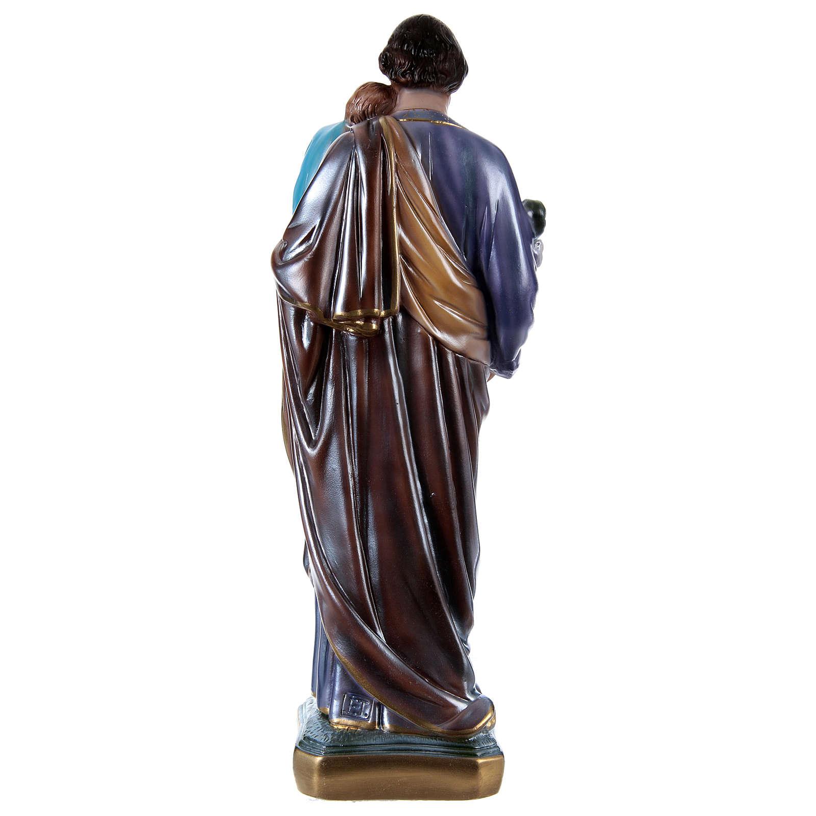 Saint Joseph 50 cm plâtre nacré 4