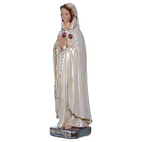 St Mystic Rose 20 cm in mother-of-pearl plaster s3