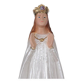 Our Lady of Knock statue in pearlized plaster, 20 cm s2
