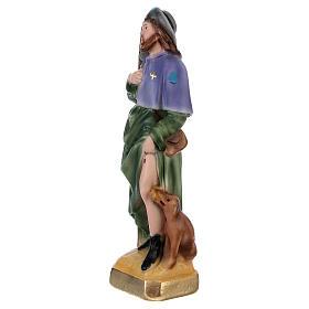 Statue en plâtre peint Saint Roch 20 cm s3