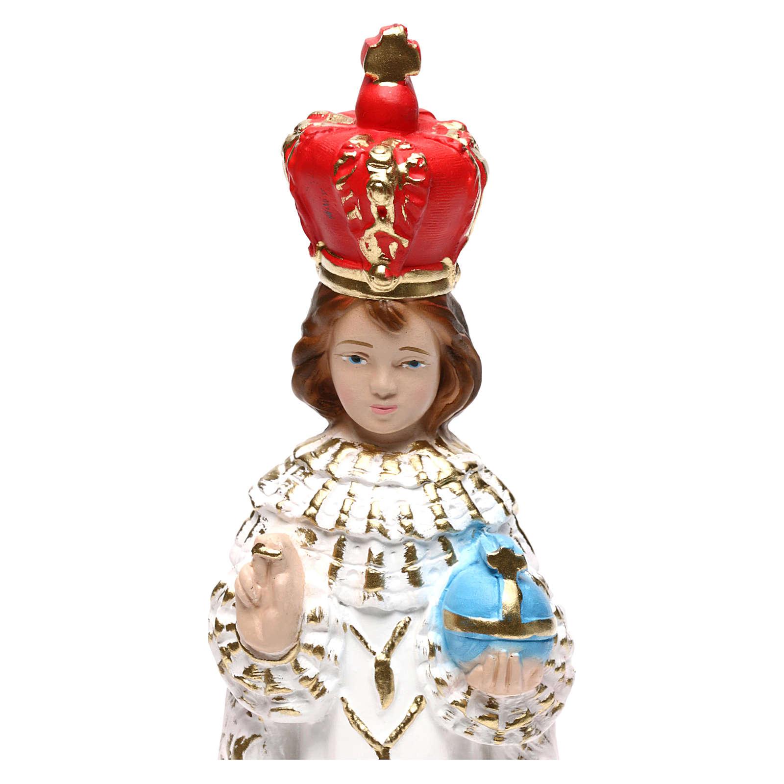 Estatua de yeso pintado Niño de Praga 20 cm 4