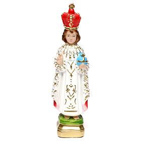 Imagens em Gesso: Imagem em gesso pintado Menino Jesus de Praga 20 cm