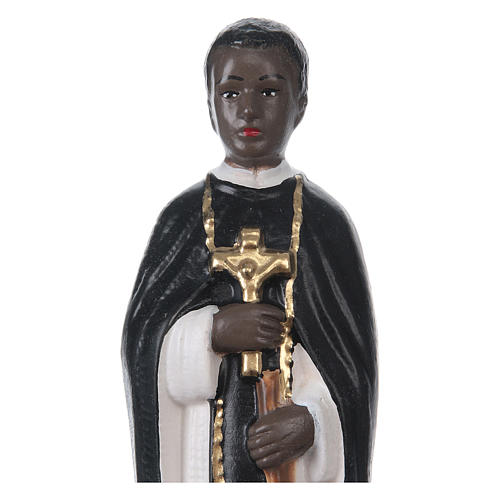 St Martin de Porres 20 cm in painted plaster 2