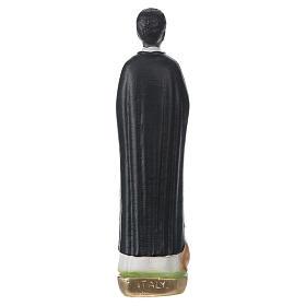 Estatua de yeso pintado San Martín de Porres 20 cm s5